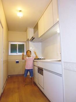 キッチン、カバー施工後1