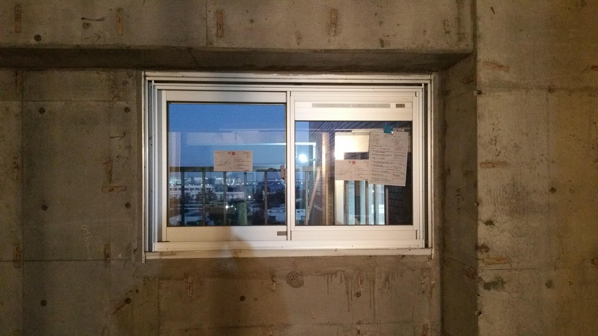 換気かまち付窓もサッシ交換工事可能です。