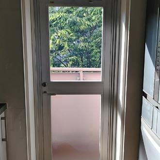浦安市 サッシ交換 カバー工法 框ドア